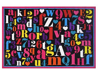 """Fun Time Alphabet Rug 51""""X78"""", , large"""