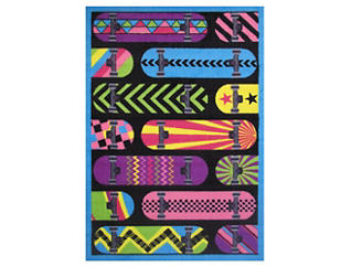 """Gnarly Boards Rug 39""""X58"""", , large"""