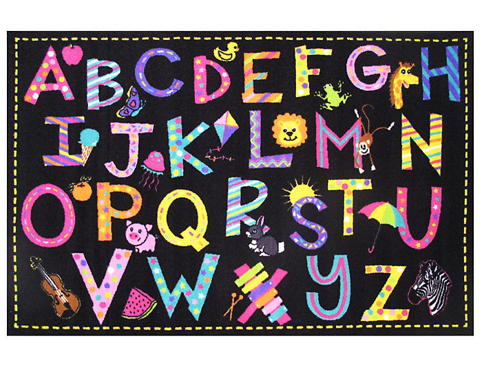 """A to Z  Fun Rug 51""""X78"""", , large"""
