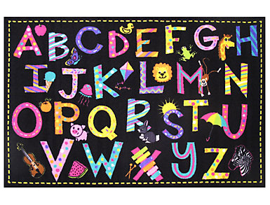 "New A to Z Fun 6'8"" x 10' Rug, , large"