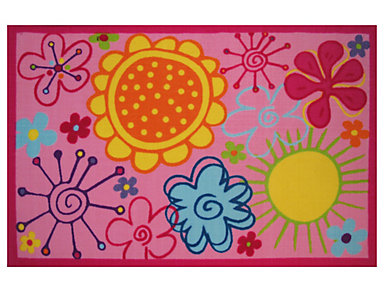 "Fancy Floral Rug 39""X58"", , large"