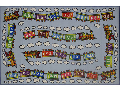 "Education  Train Rug 39""X58"", , large"