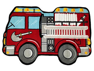 "Fire Engine Shaped Rug 31""X47"", , large"