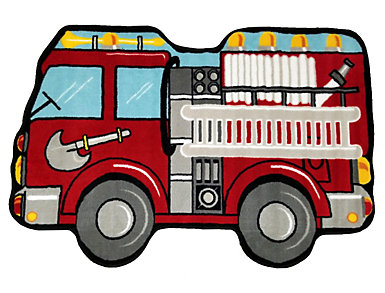 "Fire Engine Shaped Rug 31""X47"", , large"
