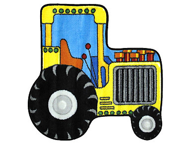 "Tractor Shaped Rug 31""X31"", , large"