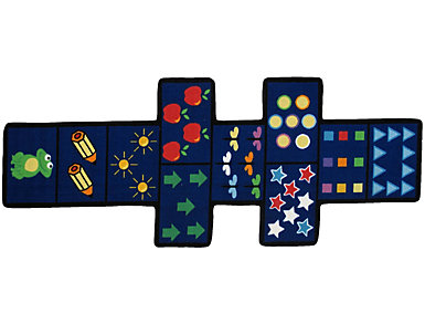 "Hopscotch Shaped Rug 30""X78"", , large"