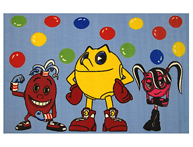 "Pac Man & Friends Rug 39""X58"", , large"
