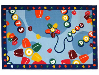 "Tootsie Roll Dots Rug 39""X58"", , large"