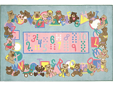 Teddies & Letters Rug 5'x7'3, , large