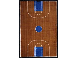 "Basketball Court Rug 5'X7'3"", , large"