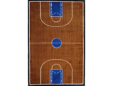 "Basketball Court Rug 5'X7'3"", , large"