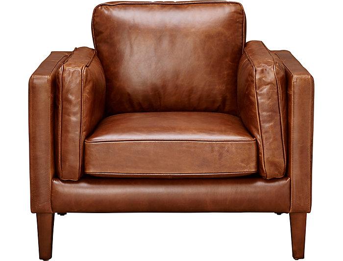 Marvelous Genuine Leather Berkley Chair Art Van Home Dailytribune Chair Design For Home Dailytribuneorg