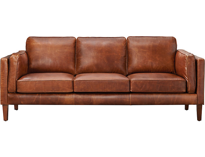 Genuine Leather Berkley Sofa Brown Large