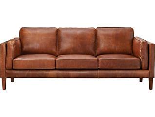 Genuine Leather Berkley Sofa, Brown, , large
