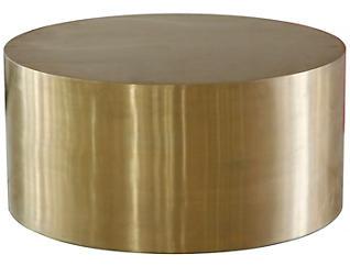 Cordoba Drum Coffee Table, Bronze, , large