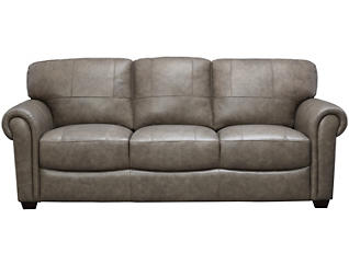 Genuine Leather Branson Sofa, Grey, , large