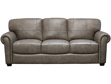 Genuine Leather Branson Sofa, Grey