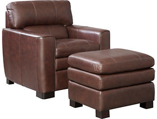 Large Leland Leather Chair