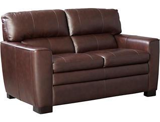 Leland Leather Loveseat, , large