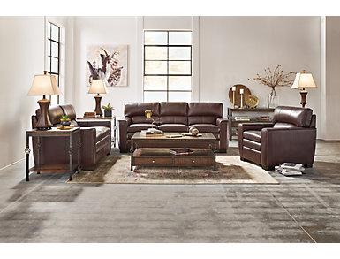Leland Leather Sofa, , large