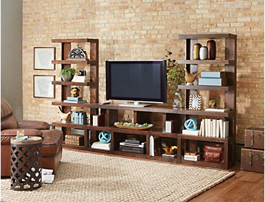 "Sausalito 64"" Console, Brown, large"