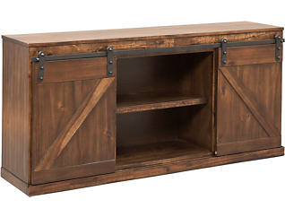 "Hacienda 62"" Rustic Walnut TV Stand, Brown, large"