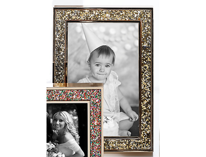 Kate Spade Gold Glitter Frame Art Van Home