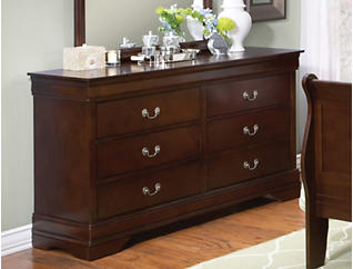 Philippe 6-Drawer Dresser, Merlot, , large