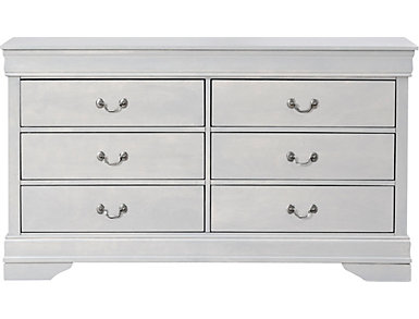 Philippe 6-Drawer Dresser, White, , large