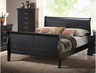 Philippe Twin Bed, Black, , large