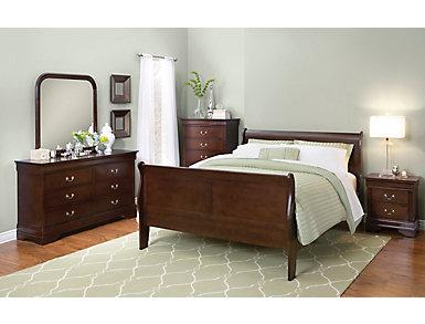 Philippe 5 Piece Queen Bedroom Set, Merlot, , large
