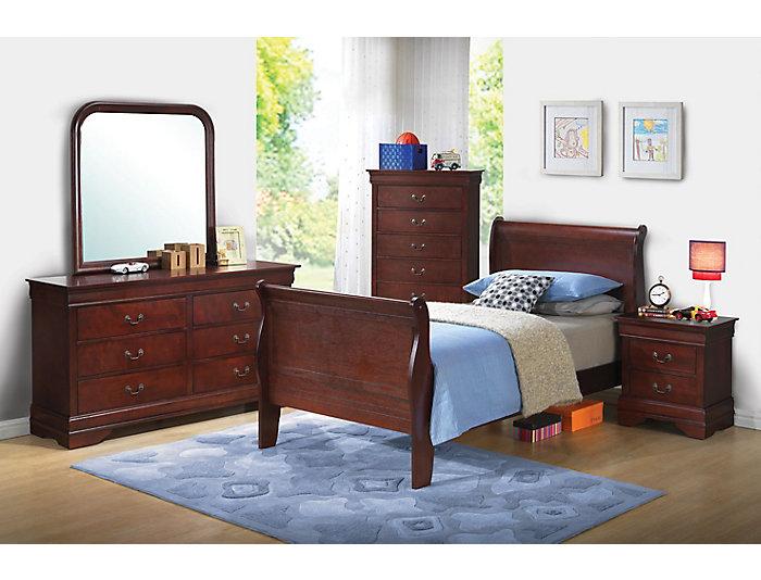 Philippe 6-piece Full Bedroom Set, Merlot