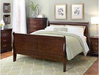 Philippe Queen Bed, Merlot, , large