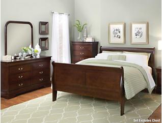 Philippe 6 Piece Queen Bedroom Set, Merlot, , large