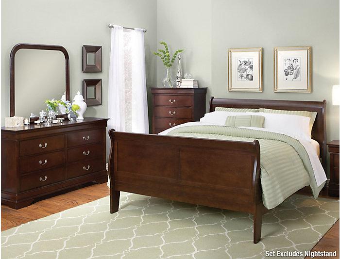 Philippe Merlot 5 Piece Queen Bedroom Set | Outlet at Art Van