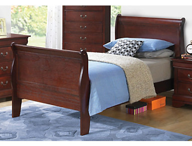 Philippe Twin Bed, Merlot, , large