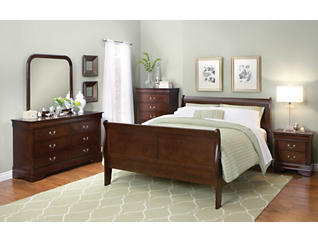 Philippe Merlot 5 Piece Twin Bedroom Set, , large