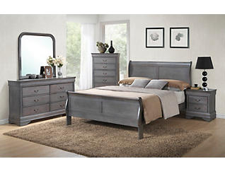Philippe 5pc Full Bedroom Set, , large