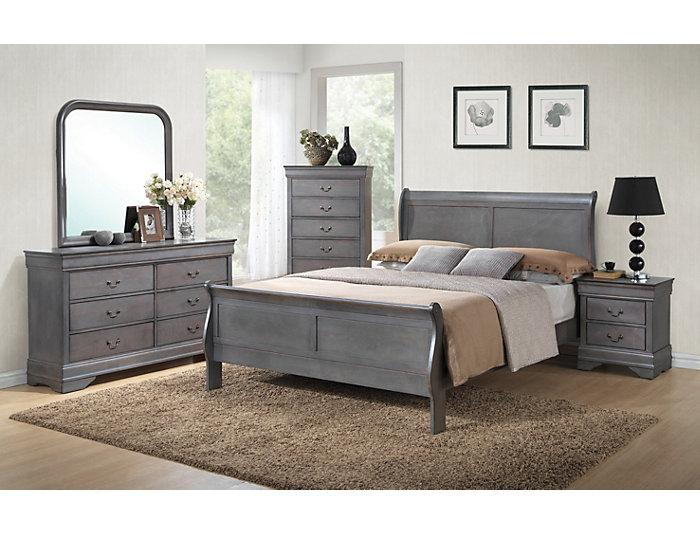 Philippe 7 Piece King Bedroom Set, Grey | Outlet at Art Van