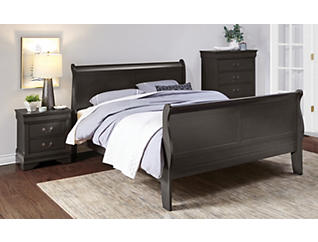Philippe Queen Bed, Grey, , large