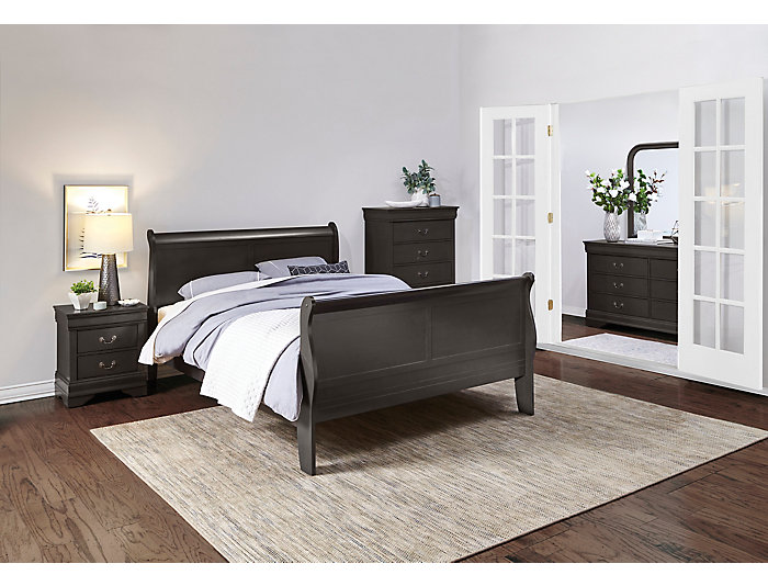Philippe Grey Queen Bed, , large