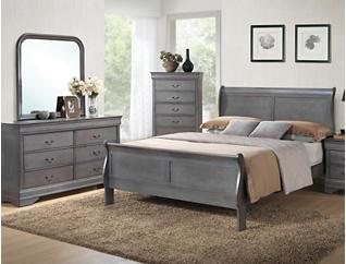 Philippe 7 Piece Queen Bedroom Set, Grey, , large