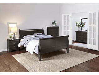 Philippe 6 Piece Queen Bedroom Set, Grey, , large