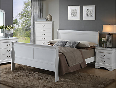 Philippe King Bed, White, , large