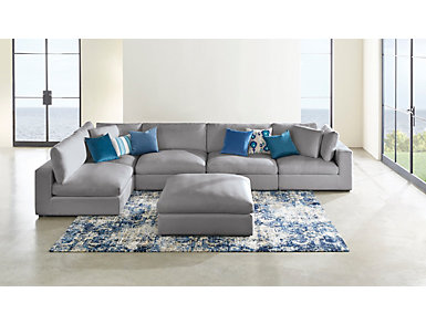 Dreamer 5 Piece Graphite Sectional, Graphite, large