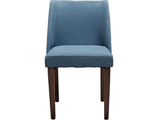 Nido Blue Upholstered Dining Chair, Blue, large