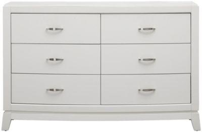 avalon youth 6 drawer dresser white