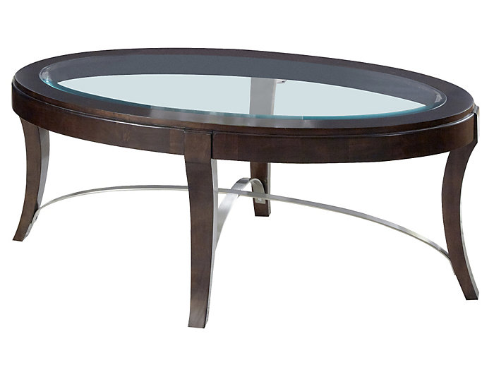 Avalon Brown Oval Coffee Table