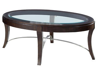 Avalon Oval Coffee Table, Brown, , large