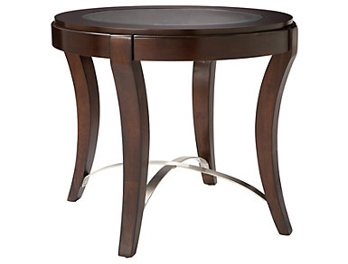 Avalon Oval End Table, Brown, , large